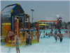Kids playing in the Splash area of the Aquatic Center