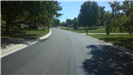 A newly paved stretch of roads.