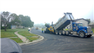 A road getting paved.