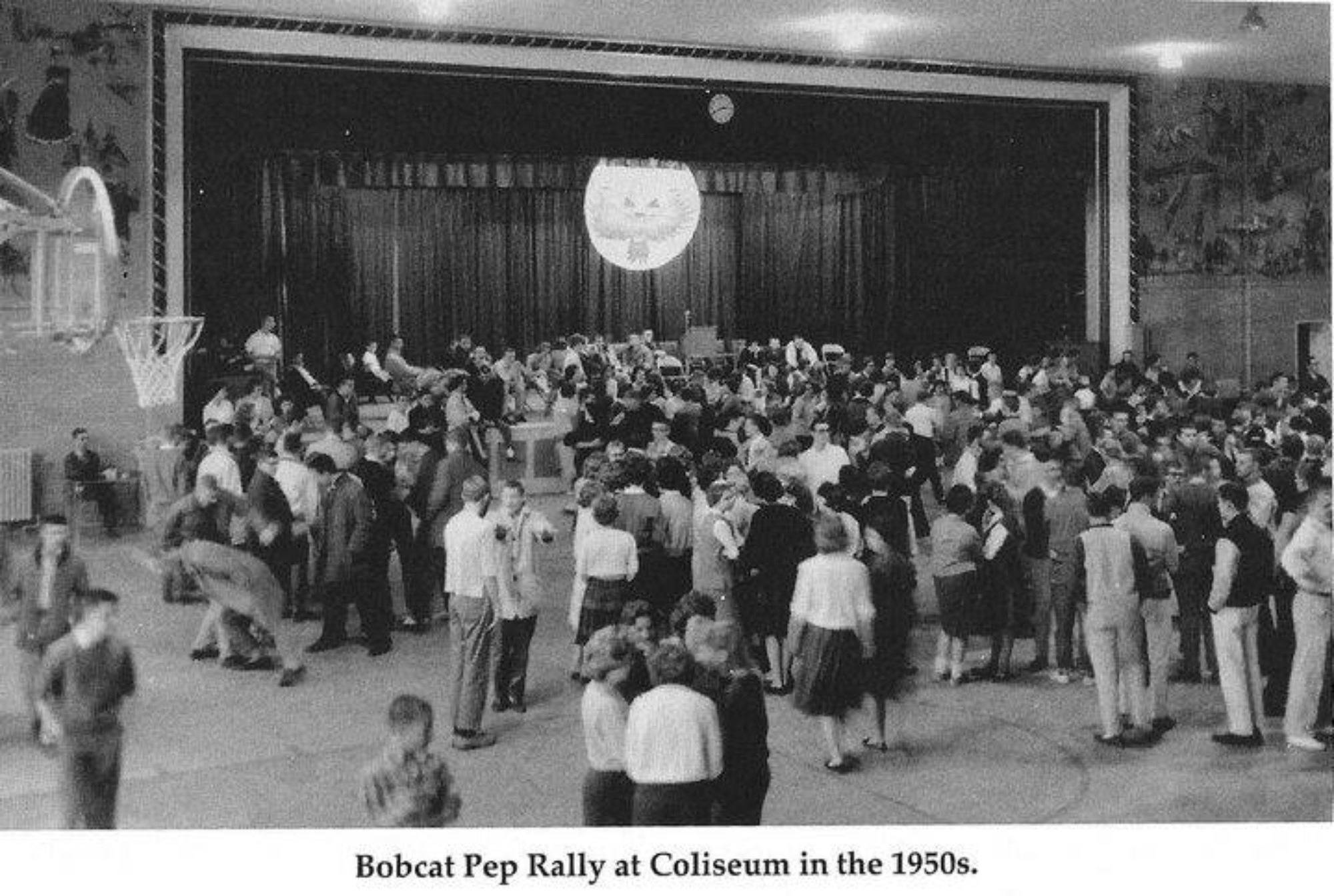 1950s Bobcat Pep Rally at Coliseum
