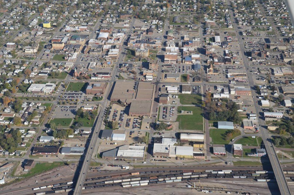 Downtown Marshalltown Aerial