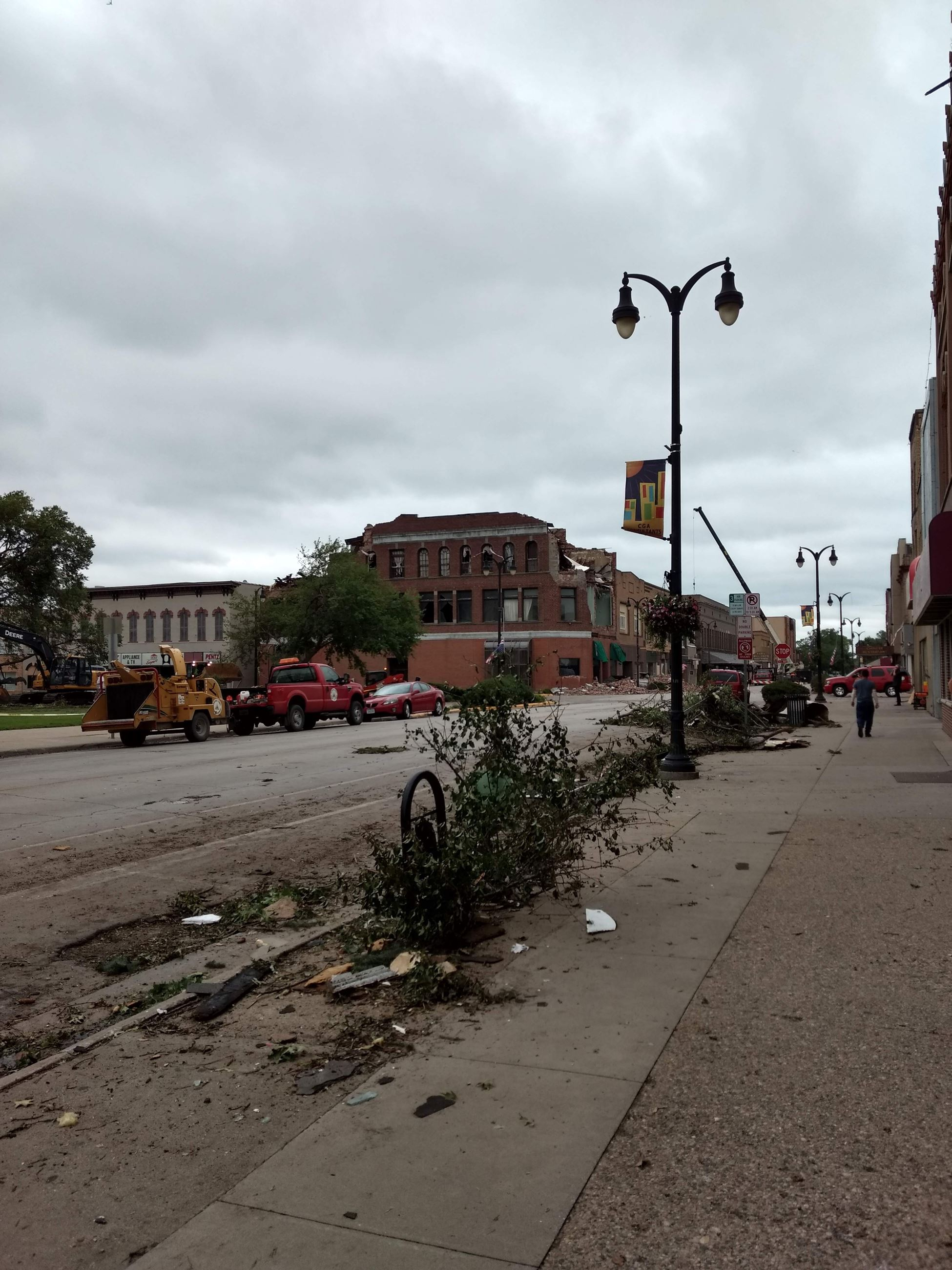 Downtown After Tornado
