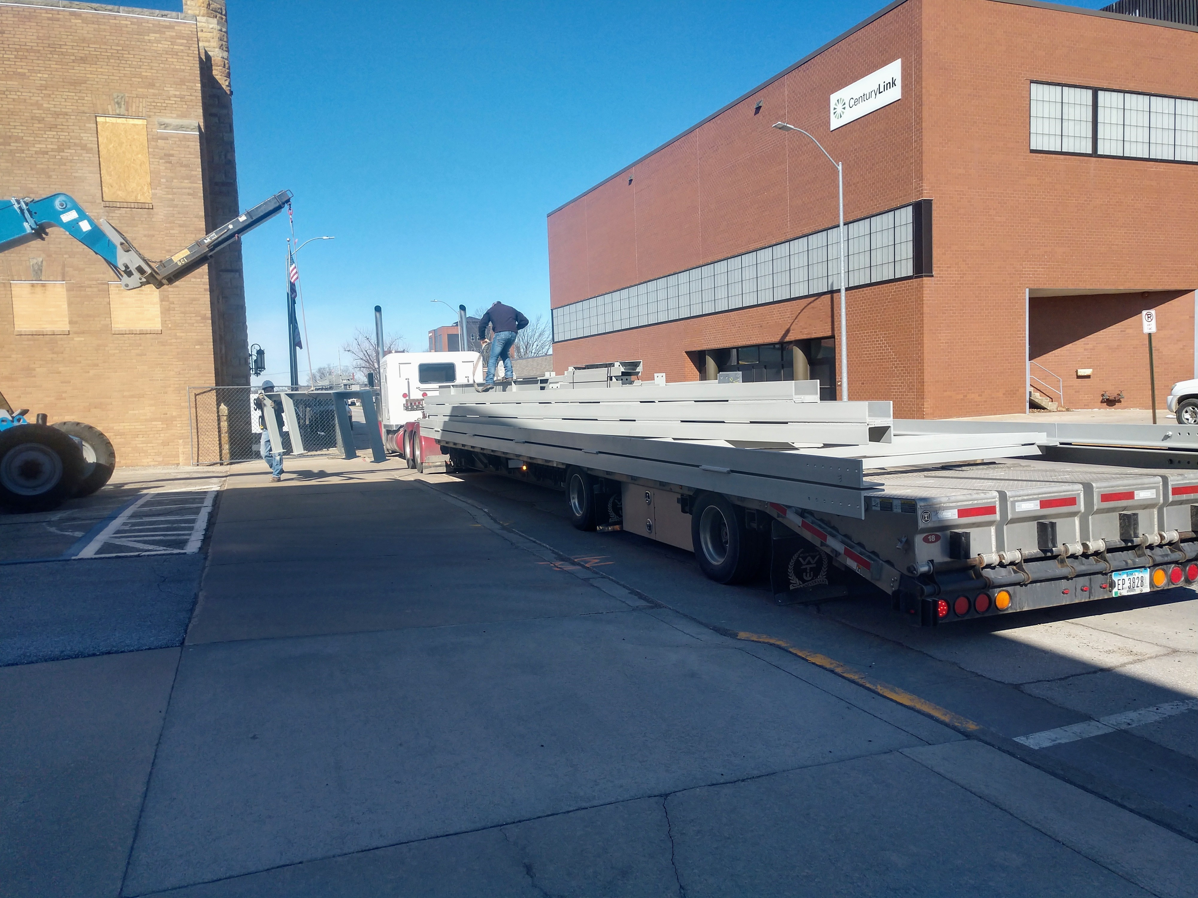 Coliseum Steel Beam Delivery