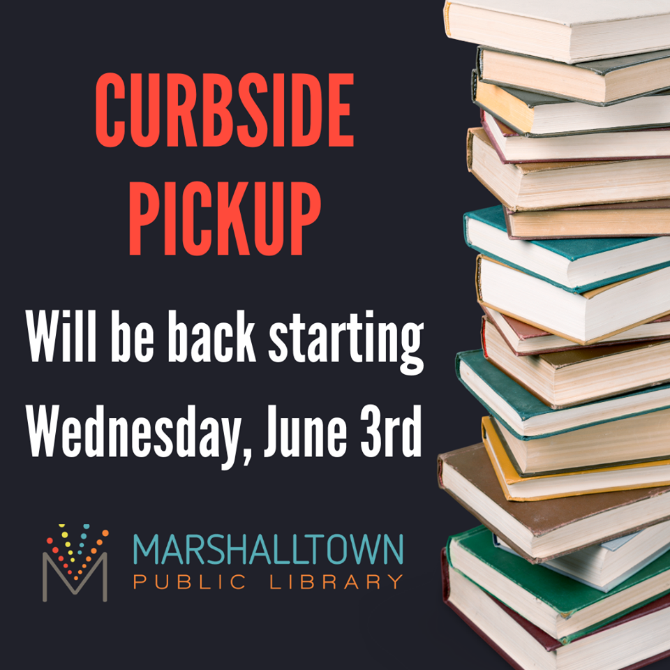 Curbside Pick-up will be back on Wednesday!