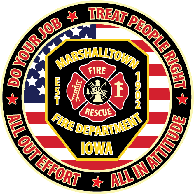 MARSHALLTOWN FIRE DEPARTMENT EMBLEM 1