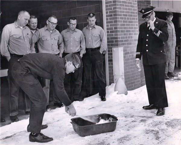 Old Photo of Fire Training