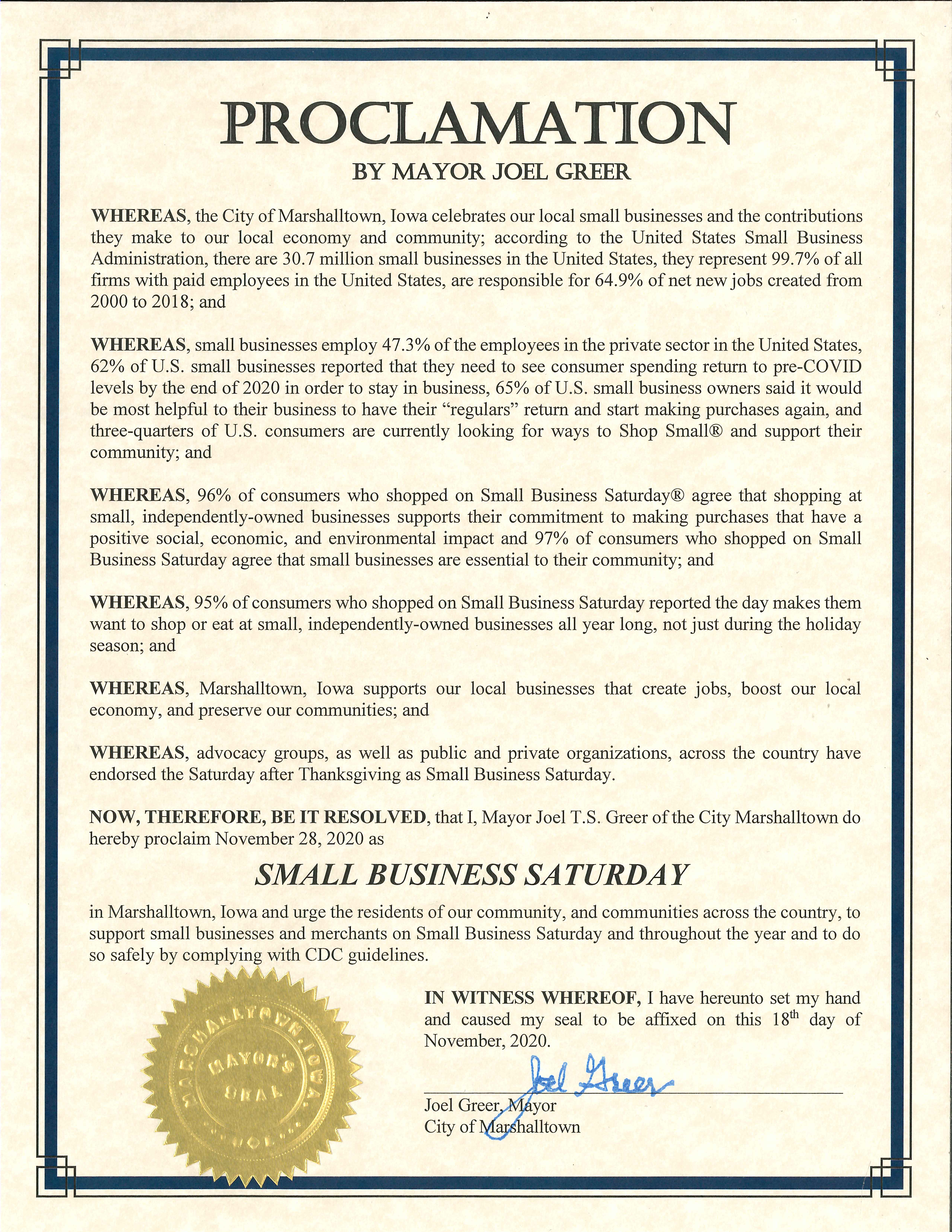 2020-11-28 Small Business Saturday